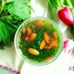 Nettle and almond soup