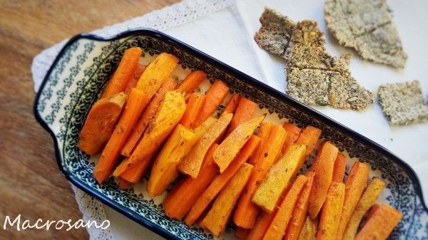 carrot and sweet potato snack